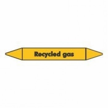 Recycled Gas Pipe Marker self adhesive vinyl code PMG65a