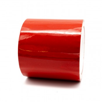 Red Pipe Identification Tape 100mm 04-E-53 wide - R M Labels - ID313C100