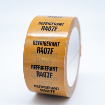 Refrigerant R407F Pipe Identification Tape - R M Labels - ID223T50YO