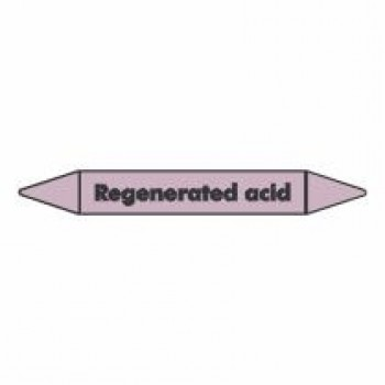 Regenerated Acid Pipe Marker self adhesive vinyl code PMAc54a