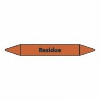 Residue Pipe Marker self adhesive vinyl code PMO64a