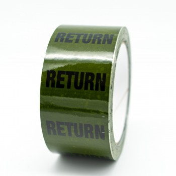 Return Pipe Identification Tape - Green 12-D-45 - R M Labels - ID163T50G