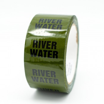 River Water Pipe Identification Tape - Green 12-D-45 - R M Labels - ID249T50G