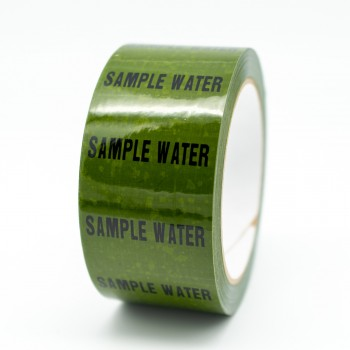 Sample Water Pipe Identification Tape - Green 12-D-45 - R M Labels - ID248T50G