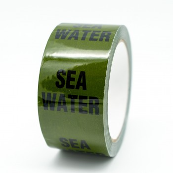 Sea Water Pipe Identification Tape - Green 12-D-45 - R M Labels - ID249T50G