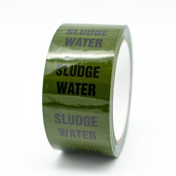 Sludge Water Pipe Identification Tape - Green 12-D-45 - R M Labels - ID292T50G