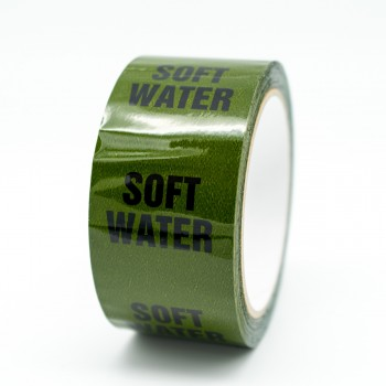 Soft Water Pipe Identification Tape - Green 12-D-45 - R M Labels - ID250T50G