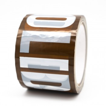 Solid Dabs self adhesive acrylic tape for marking Plasterboards - R M Labels