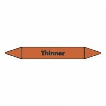 Thinner Pipe Marker self adhesive vinyl code PMO67a