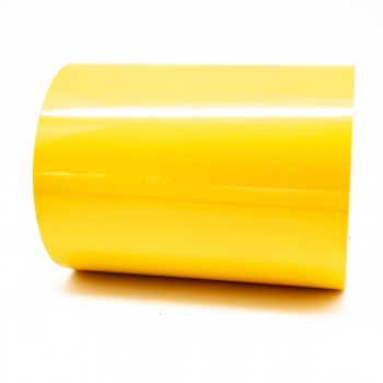 Traffic Yellow External Pipe Identification Tape 150mm wide - RAL 1023 - R M Labels - EXD451C150