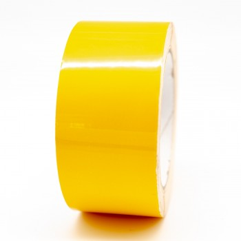 Traffic Yellow External Pipe Identification Tape 50mm wide - RAL 1023 - R M Labels - EXD251C50