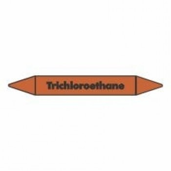 Trichloroethane Pipe Marker self adhesive vinyl code PMO69a