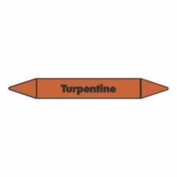 Turpentine Pipe Marker self adhesive vinyl code PMO71a