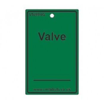 Valve Label in green Code VN994G