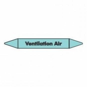 Ventilation Air Pipe Marker self adhesive vinyl code PMCa26a