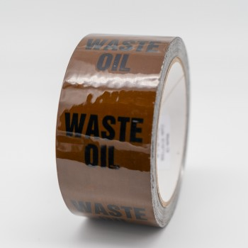 Waste Oil Pipe Identification Tape - Brown 06-C-39 - R M Labels - ID187T50B