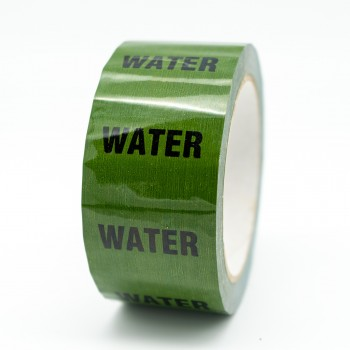 Water Pipe Identification Tape - Green 12-D-45 - R M Labels - ID164T50G