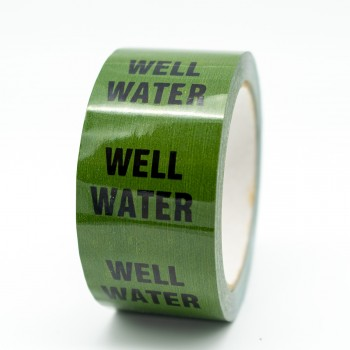 Well Water Pipe Identification Tape - Green 12-D-45 - R M Labels - ID165T50G