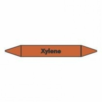 Xylene Pipe Marker self adhesive vinyl code PMO76a