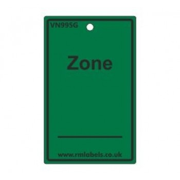 Zone Label in green Code VN995G