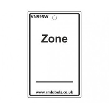 Zone Label in white Code VN995W