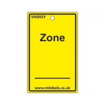 Zone Label in yellow Code VN995Y
