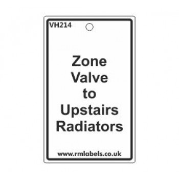 Zone Valve to Upstairs Radiators Label Code VH214