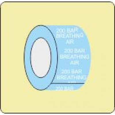 200 Bar Breathing Air Pipe Identifcation Tape Code ID601ST50X6LB