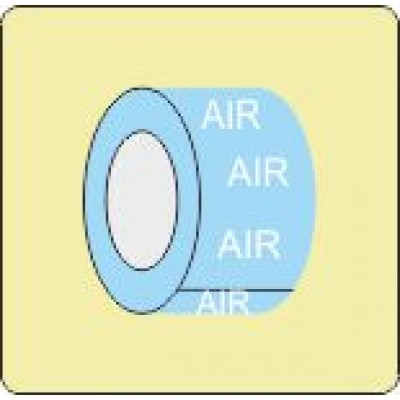 Air Pipe Identifcation Tape Code ID602ST50X6LB