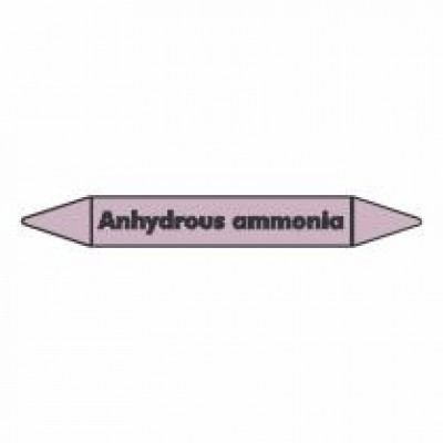 Anhydrous Ammonia Pipe Marker self adhesive vinyl code PMAc09a