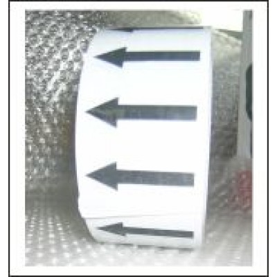 Arrows Pipe Identification Tape (Silver Grey) ID006A50SG