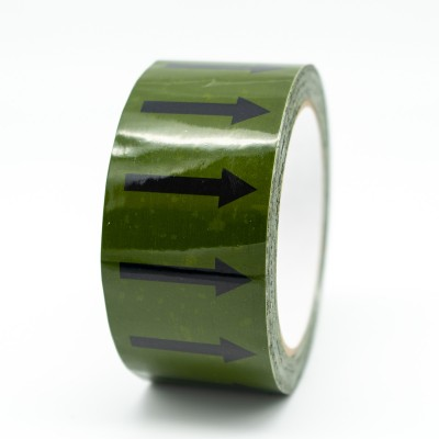 Arrows Pipe Identification Tape - Green 12-D-45 - R M Labels - ID002A50G