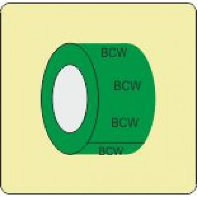 Boosted Cold Water Pipe Identification Tape Code ID300ST50G6