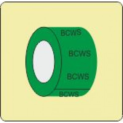 Boosted Cold Water Service or Supply Pipe Identification Tape Code ID301ST50G6