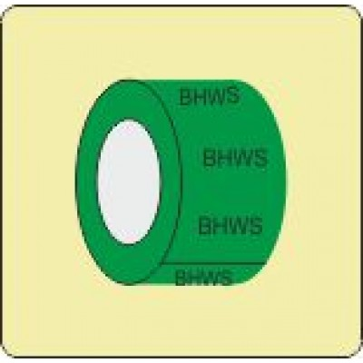 Boosted Hot Water Service or Supply Pipe Identification Tape Code ID302ST50G6