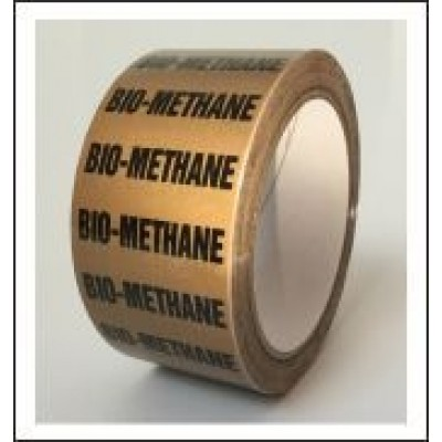 Bio Methane Pipe Identification Tape ID227T50YO