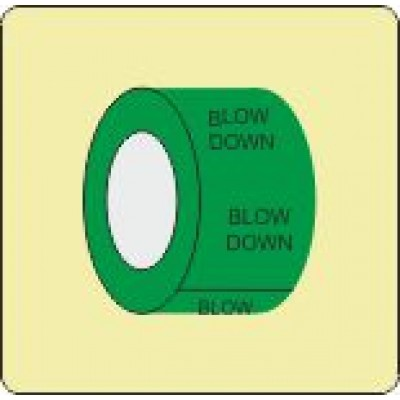 Blow Down Pipe Identification Tape Code ID306ST50G6