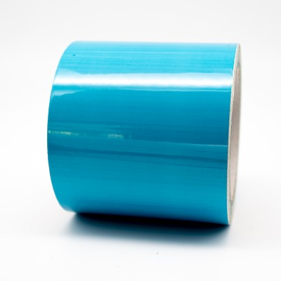Blue External Pipe Identification Tape 100mm wide BS 18-E-51 - R M Labels - EXD356C100