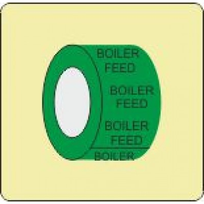 Boiler Feed Pipe Identification Tape Code ID307ST50G6