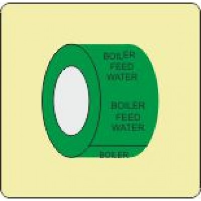 Boiler Feed Water Pipe Identification Tape Code ID308ST50G6