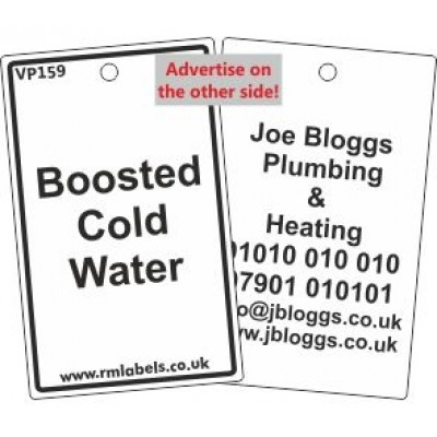 Boosted Cold Water Label Code VP159