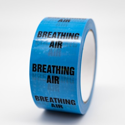 Breathing Air Pipe Identification Tape - R M Labels - ID178T50LB