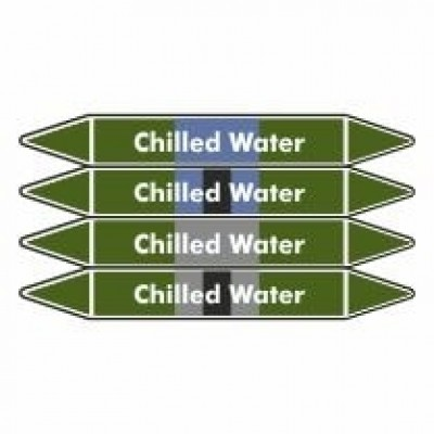 Chilled Water Pipe Marker self adhesive vinyl code PMW04a