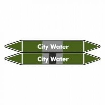 City Water Pipe Marker self adhesive vinyl code PMW09a
