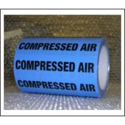 Compressed Air Pipe Identification Tape 150mm ID451T150LB