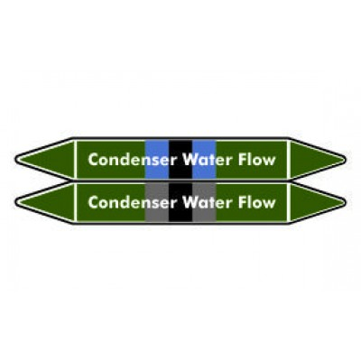 Condenser Water Flow Pipe Marker PMW17a