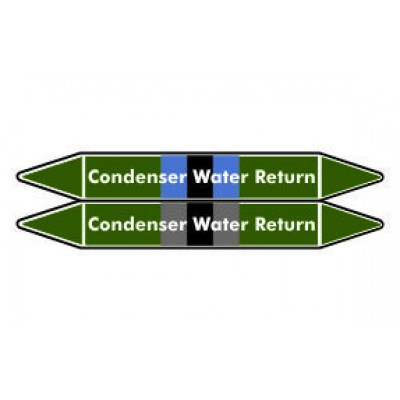 Condenser Water Return Pipe Marker PMW18a