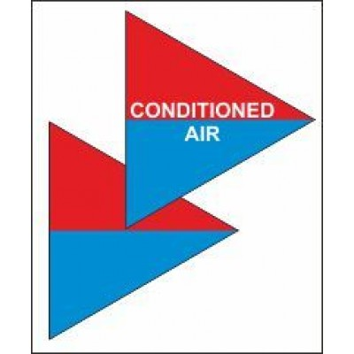 Conditioned Air Triangle for Air Conditioning Ductwork AC002