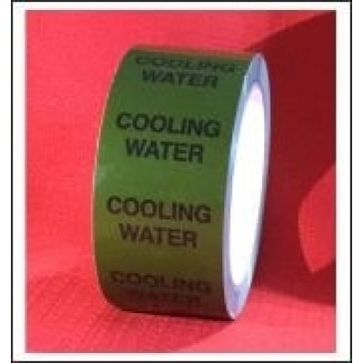 Cooling Water self adhesive Pipe Identification Tape Code ID153T50G