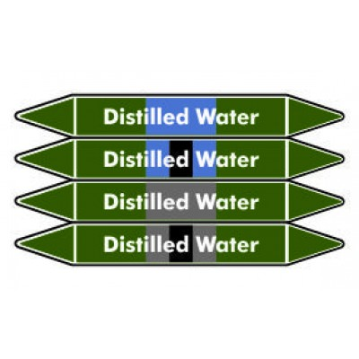 Distilled Water Pipe Marker PMW25a